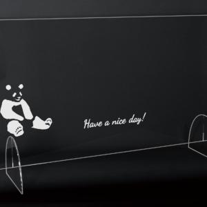 StudioBeam アクリルパネル大 選べるデザイン! B:パンダ サイズ 幅790mm×高さ495mm×奥行190mm