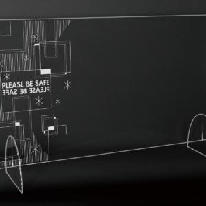 StudioBeam アクリルパネル大 選べるデザイン! C:シンプル サイズ 幅790mm×高さ495mm×奥行190mm