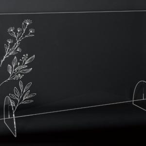 StudioBeam アクリルパネル大 選べるデザイン! G:ナチュラルグリーン サイズ 幅790mm×高さ495mm×奥行190mm