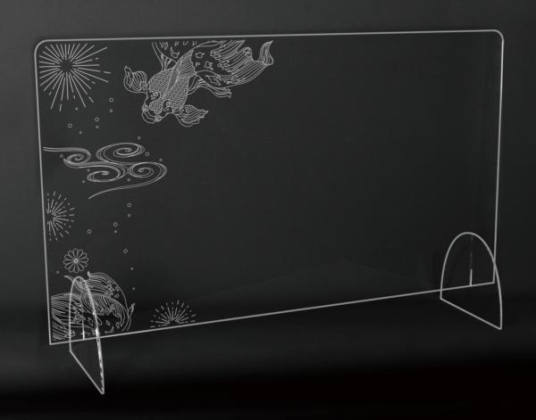 StudioBeam アクリルパネル大 選べるデザイン! H:金魚 サイズ 幅790mm×高さ495mm×奥行190mm