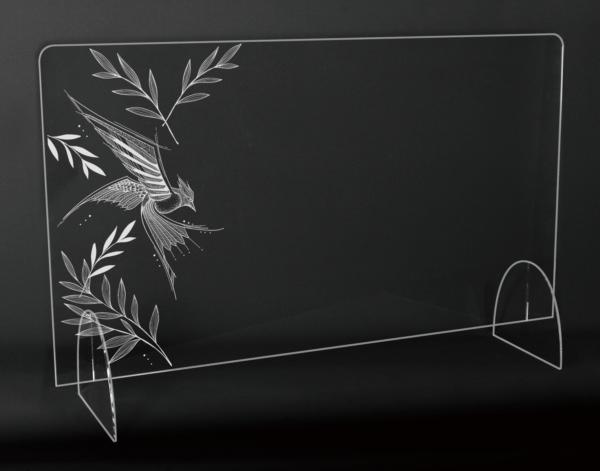 StudioBeam アクリルパネル大 選べるデザイン! I:バード サイズ 幅790mm×高さ495mm×奥行190mm