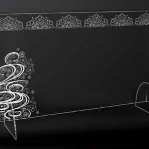 StudioBeam アクリルパネル大 選べるデザイン! J:和風:ソーシャルディスタンス サイズ 幅790mm×高さ495mm×奥行190mm